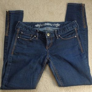 Express jean jegging zippers at ankles size 2 R